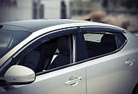 Дефлекторы окон ветровики на KIA КИА Optima 2011-2015 (с хром молдингом) серые, фото 1