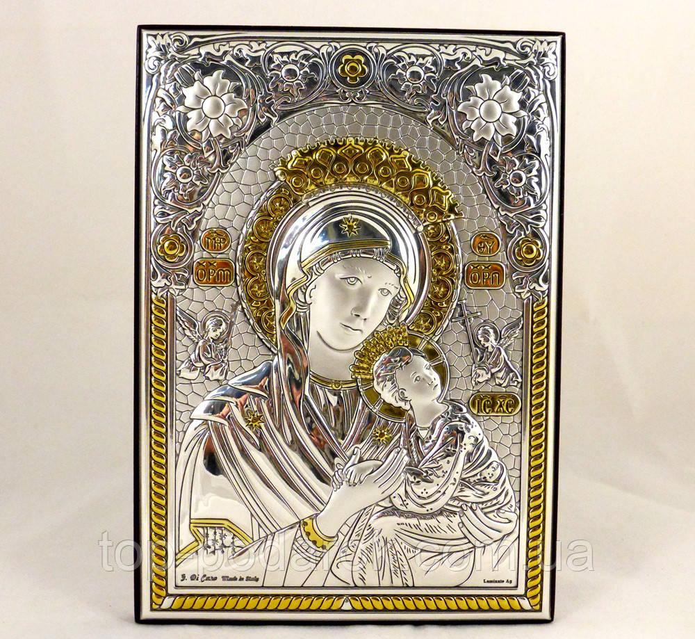 Икона Неустанной Помощи на деревянной основе в шкатулке