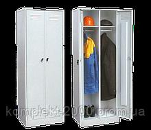 Металлический шкафчик для раздевалки в школу с замком