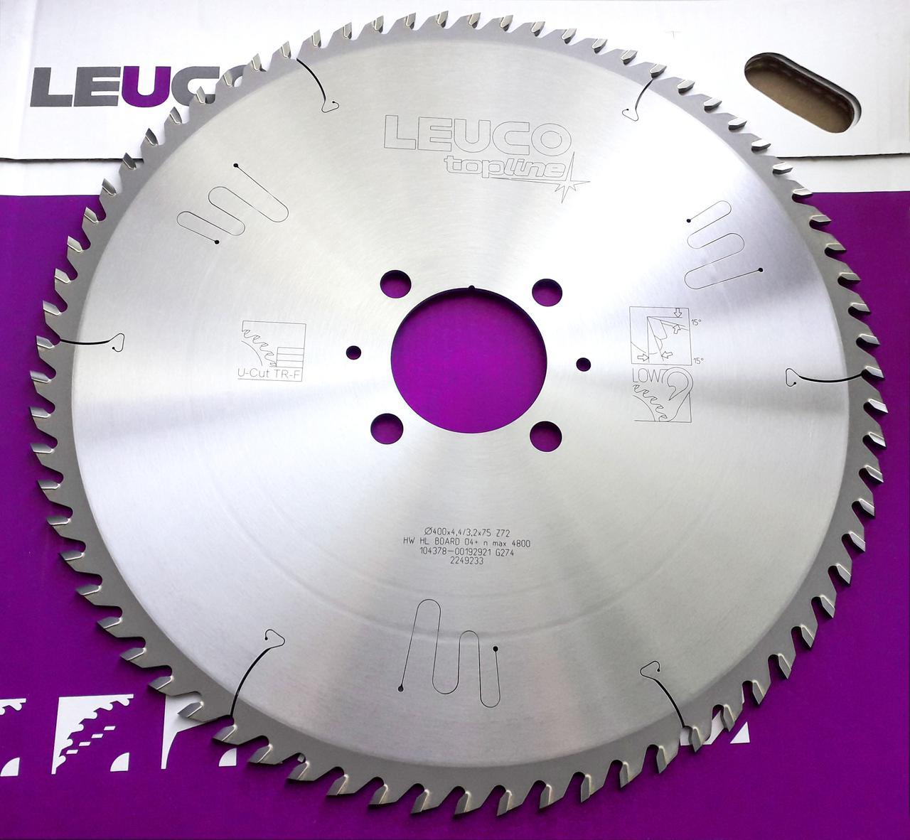 Основная дисковая пила Leuco для пильных центров, 400x4,4/3,2x75 Z=72