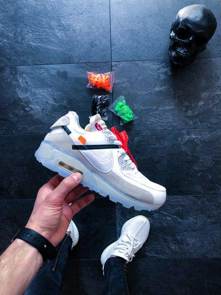 06b0d1e6 Мужские кроссовки Off-White x Nike Air Max 90, топ Реплика: продажа ...