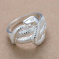 Стильное женское кольцо Змея р 17,5