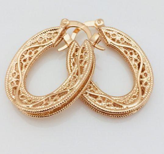Серьги кольца Fallon мода позолота 18К