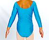 Купальник для художественной гимнастики голубой М (30-32) , фото 2