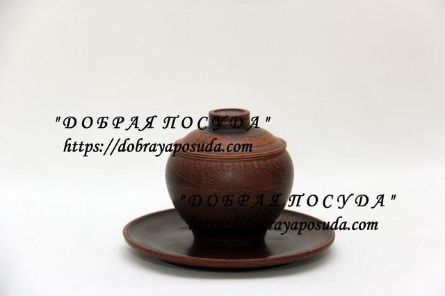 Посуда из красной глины (молоченная)