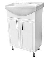 Тумба для ванной комнаты Стандарт Т1/4 с умывальником Лотос-56