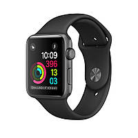 Apple Watch Series 2 42 мм Space Gray Aluminum Case with Black Sport Band (MP062)
