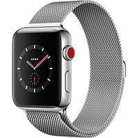 Apple Watch Series 3 GPS + Cellular 42 мм Stainless Steel Case with Milanese Loop (MR1J2)