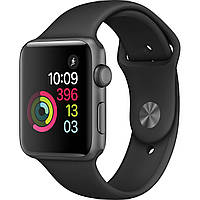 Apple Watch Series 1 42 мм Space Gray Aluminum Case with Black Sport Band (MPO32)