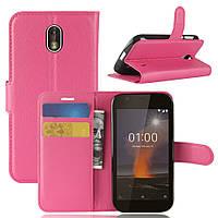 Чехол Nokia 1 книжка PU-Кожа розовый