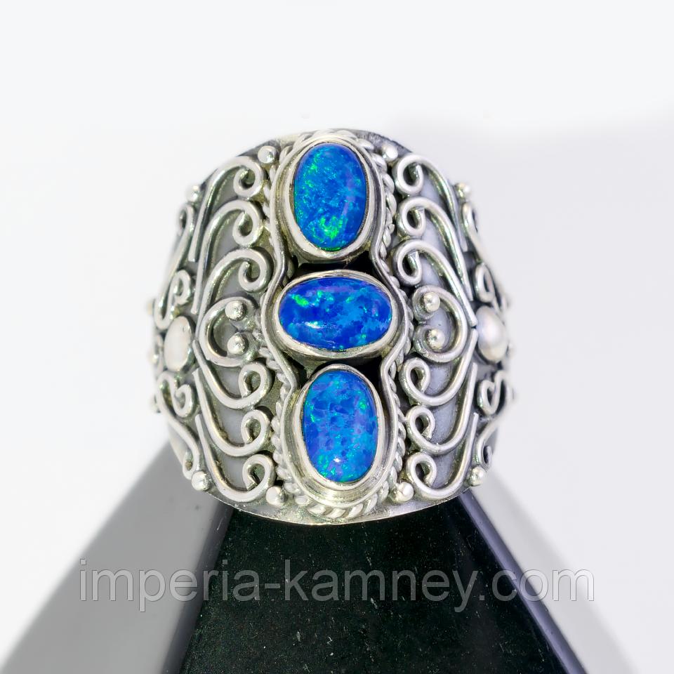 Опал огненный, серебро 925, кольцо, 187КО