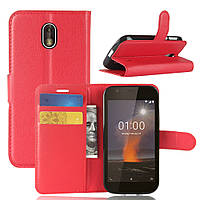 Чехол Nokia 1 книжка PU-Кожа красный