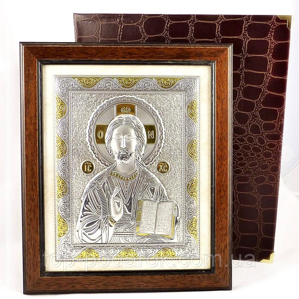 Ікона Ісус Христос в дерев'яній рамці в шкатулці