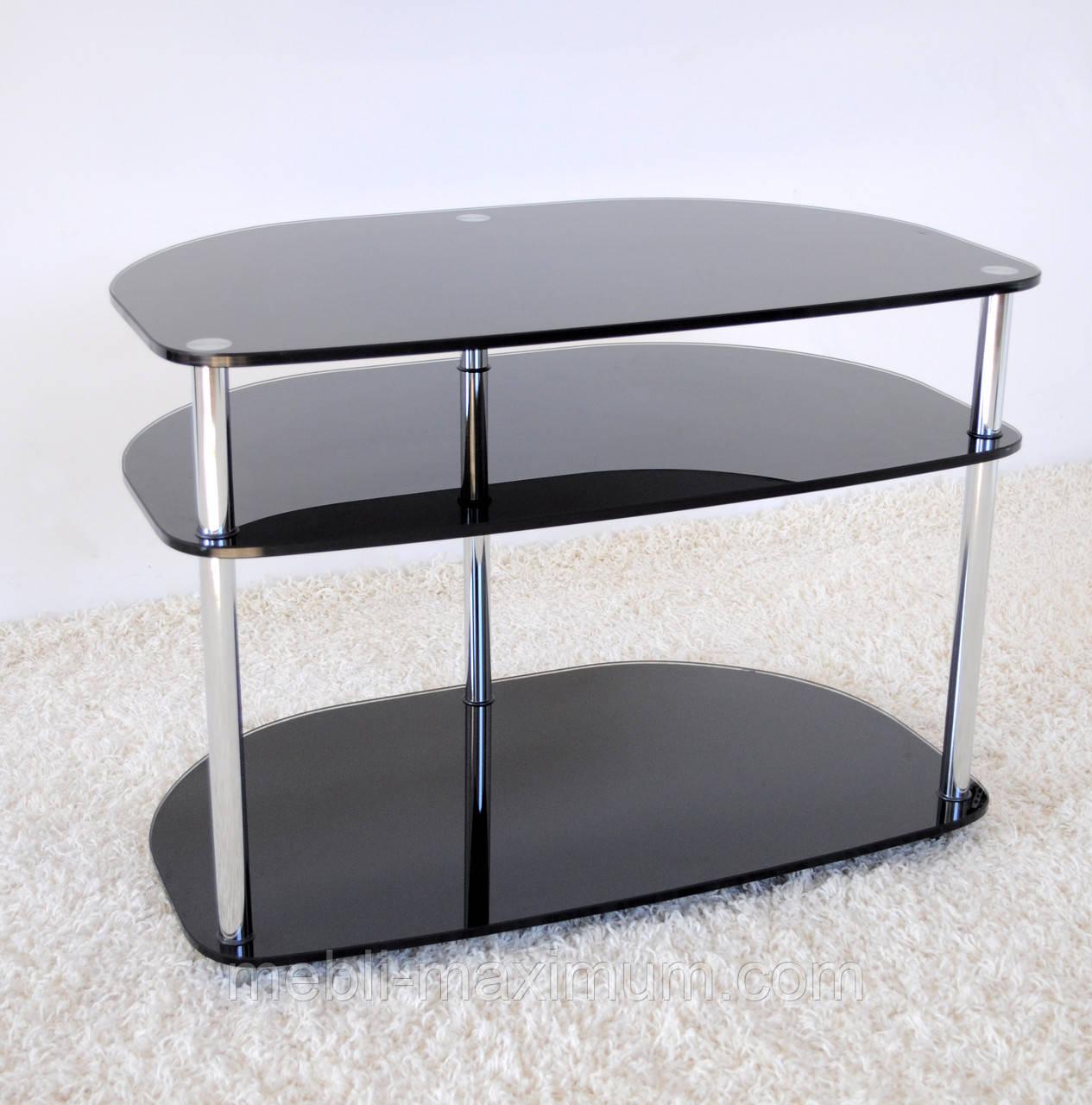 """Тумба ТВ Maxi RS 700 - 25  """"прозрачный"""" стекло, хром, фото 1"""