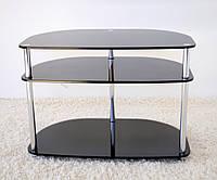 """Тумба ТВ стеклянная на хромированных ножках Maxi RS 700 - 25  """"матовый"""" стекло, хром"""