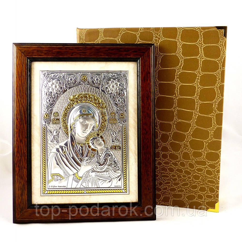 Ікона Богородиці Неустанної Допомоги в дерев'яній рамці в шкатулці