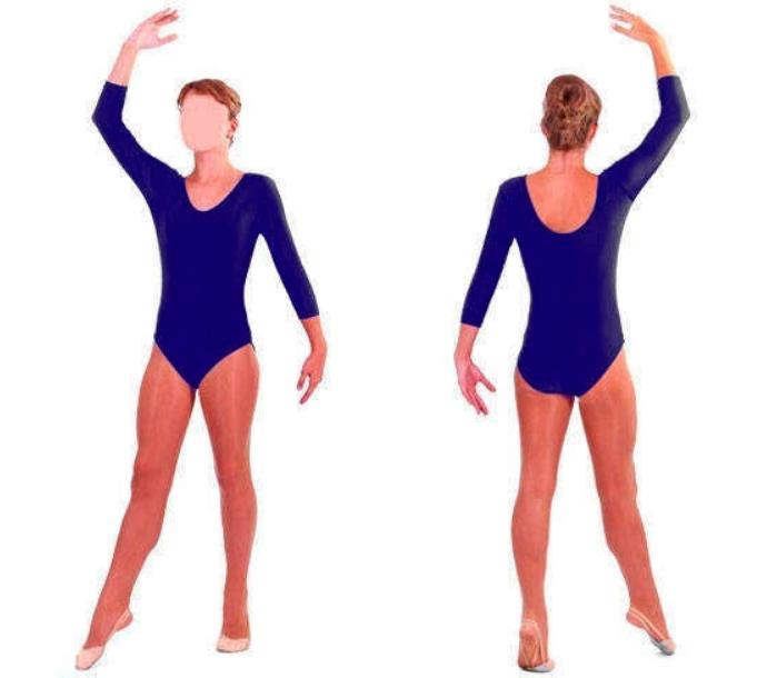 Купальник для художественной гимнастики темно-синий L (34-36)
