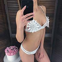 Женский купальник с гипюром на лифе 6518106, фото 1