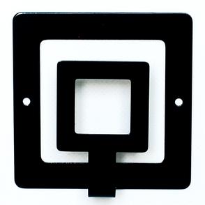 Интерьерная вешалка настенная Square, фото 2