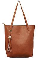 """Модная женская сумка """"3 в 1"""" Z-028 (коричневая)"""