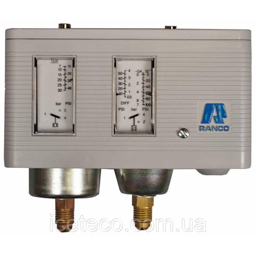 Реле давления Ranco LP/HP, двублочное 017-Н4703, ручной сброс