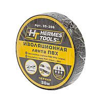 Изолента пвх черная Hermes Tools 30 м