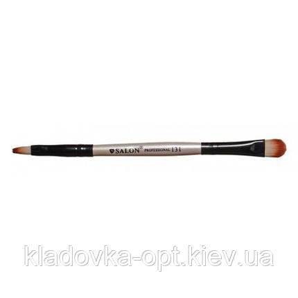 Кисть для макияжа 2-сторонняя №131 Salon Professional, фото 2