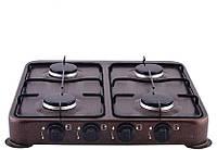 Газовая плита таганок настольная Domotec MS 6604 на 4 конфорки