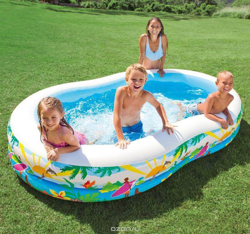 Детский  Надувной  Бассейн  INTEX 56490( 262х160х46 см)