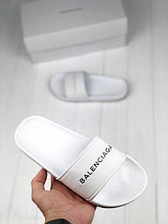 Сланцы Balenciaga Slippers white. Живое фото. Топ качество! (Реплика ААА+)