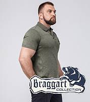 Braggart | Рубашка поло для мужчин большого размера 103-1 зеленый