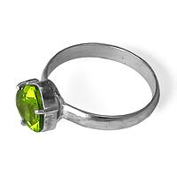 Хризолит, серебро 017КХ, кольцо