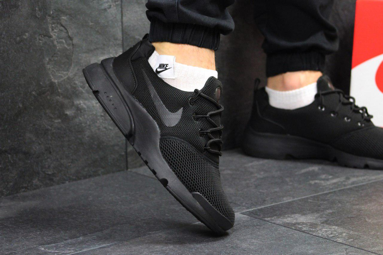 Кросівки чоловічі Nike Air Presto Fly Uncaged (чорні), ТОП-репліка
