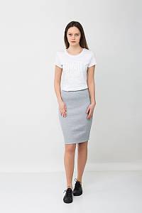 Модная юбка карандаш серая MEL Urban Planet (юбочка, юбки, жіноча юбка, літній одяг, женский одежда, одяг)