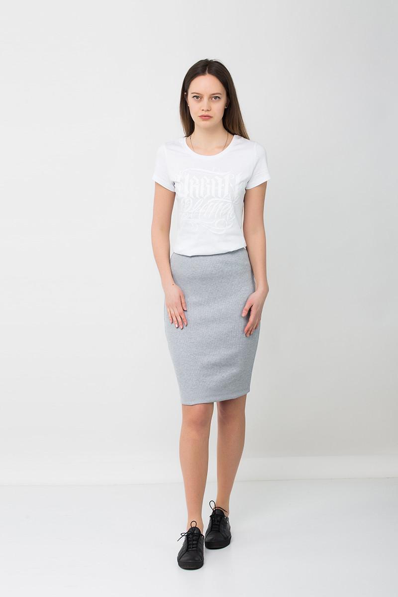 Модная юбка карандаш серая MEL Urban Planet (юбочка, юбки, жіноча юбка