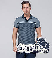 Braggart | Рубашка поло. Хлопок 6681 синий