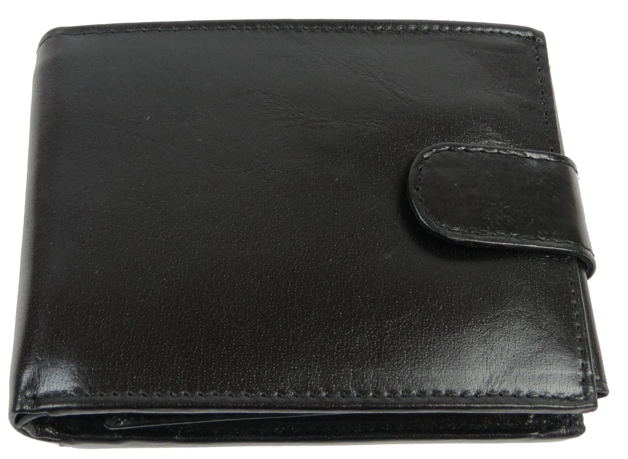 Горизонтальное мужское портмоне из кожи ALWAYS WILD SBLM02LCFL черный