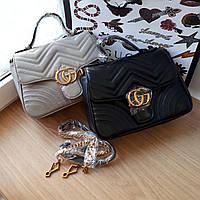 Сумочка  Gucci  черная, эко-кожа, фото 1