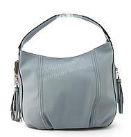 Вместительная прочная модная сумка из эко кожи высокого качества GERNAS art. G-Y17649 голубой, фото 1