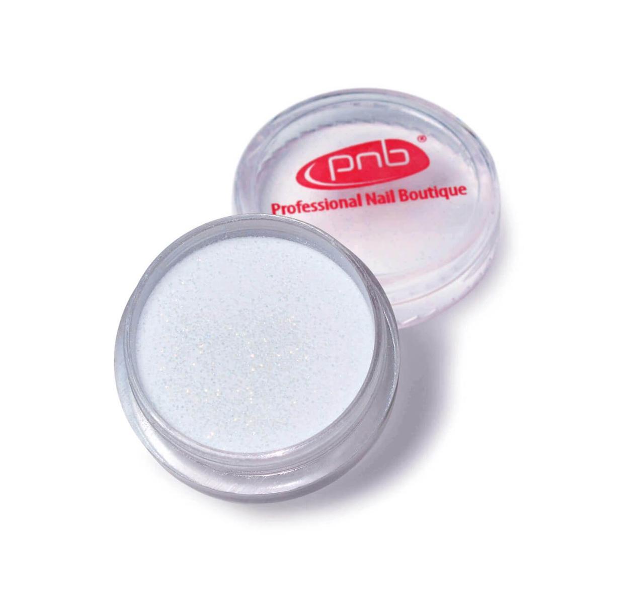 Color Acrylic Powder PNB 01 White Glitter, 2g