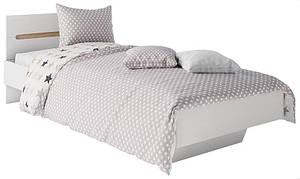 Кровать односпальная 90 Бьянко Світ Меблів (Белый глянец)