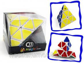 Головоломка Піраміда QJ Pyraminx Magic Cube корпус білий