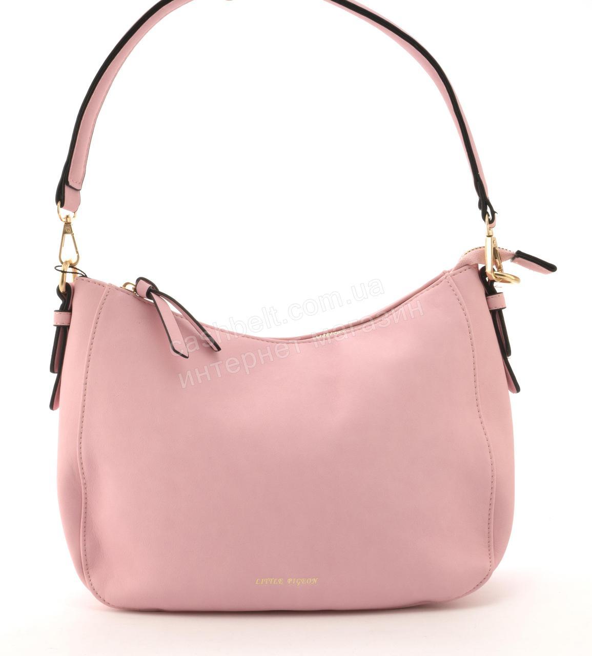 Качественная стильная сумка с эко кожи высокого качества Little Pigion art. T29 розовая