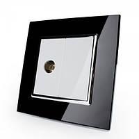 TV розетка Livolo бело-черная (VL-C791V-11/12)