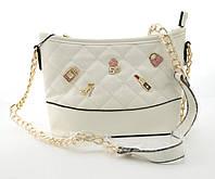 Небольшая вместительная женская сумочка из эко кожи Little Pigion art. 7-1 белая, фото 1