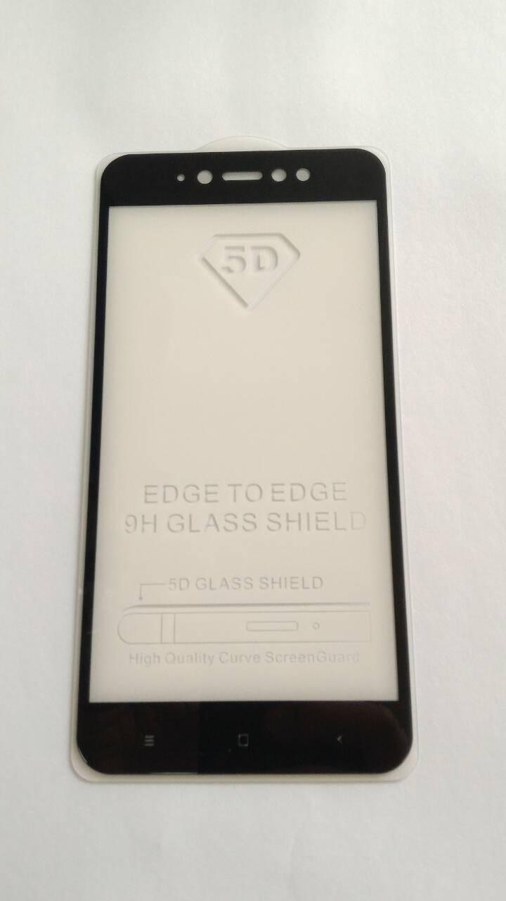 Защитное 5D стекло Xiaomi Redmi Note 5A Black  full Screen