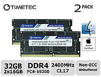 Память Timetec Hynix IC Apple 32GB KIT(2x16GB) DDR4 2400MHz PC4-19200 SODIMM для ноутбука, фото 1