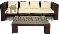 Набор модульной мебели Спарта (4-х местный) шоколад
