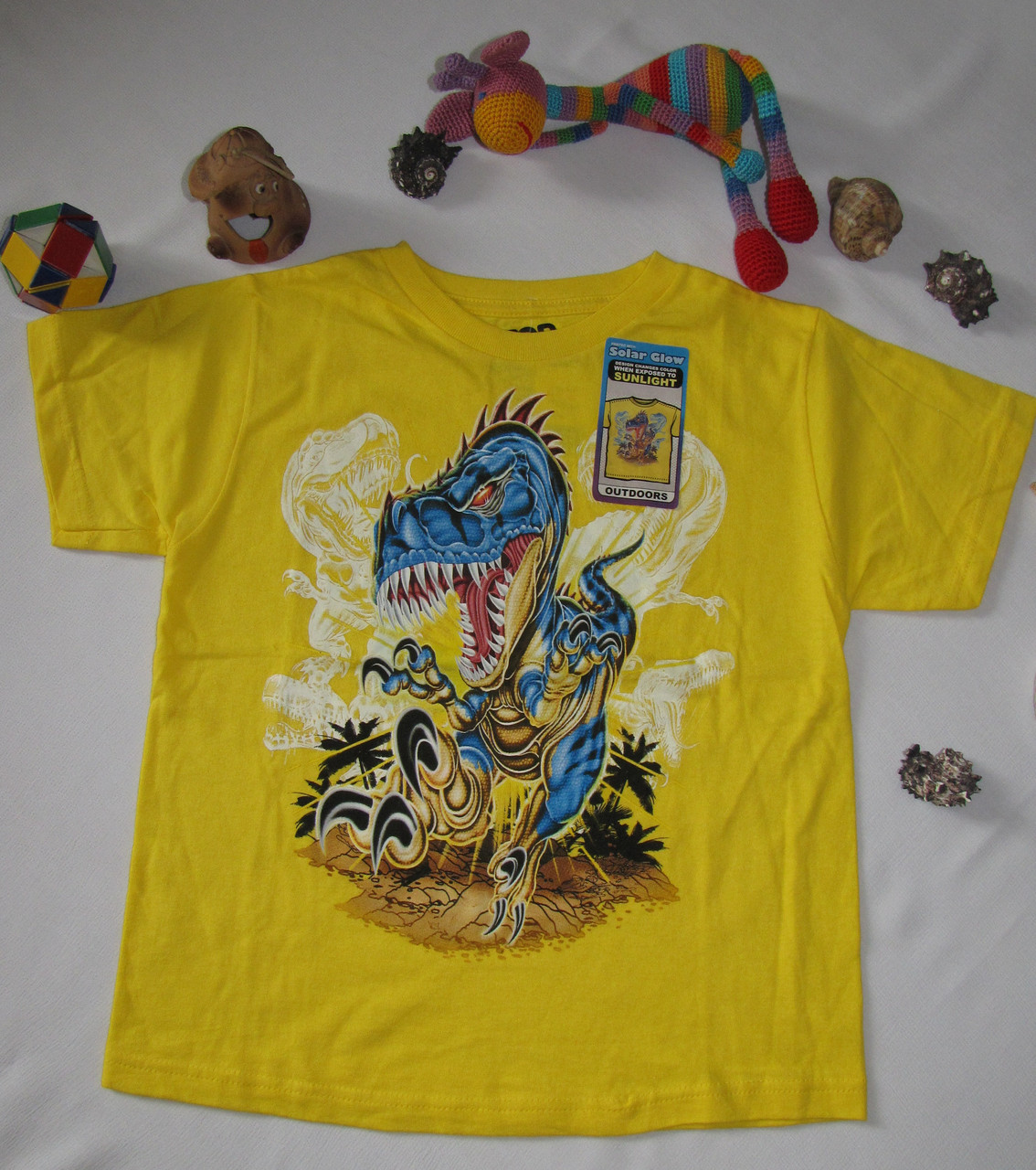 Футболка санлайтер Top Heavy Динозавр рост 122 см желтая 07073