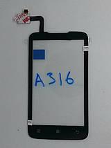 Cенсорный экран LENOVO A 316/А 316і BLACK, фото 2